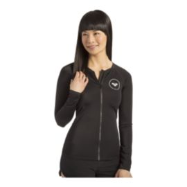 Roxy Women's Essentials Long Sleeve Zipped Rashguard