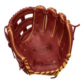 "Wilson A2000 11.5"" Baseball Glove - Brick Red/Vegas Gold"