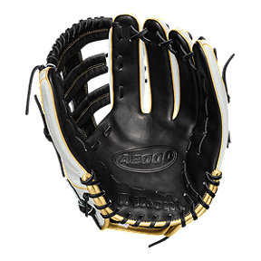 "Wilson A2000 13"" Slowpitch Glove - White/Gold/Black"