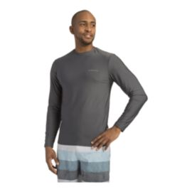 O'Neill Men's Basic Skins Long Sleeve Rash Guard Shirt - Graphite