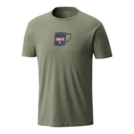Mountain Hardwear Men's Whiskey Mug Short Sleeve T Shirt - Green
