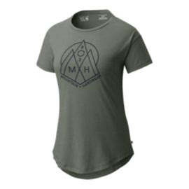 Mountain Hardwear Women's 3 Peaks T Shirt - Green Fade