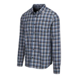 Vans Men's Alameda II Flannel Long Sleeve Shirt - Asphalt Copen Blue
