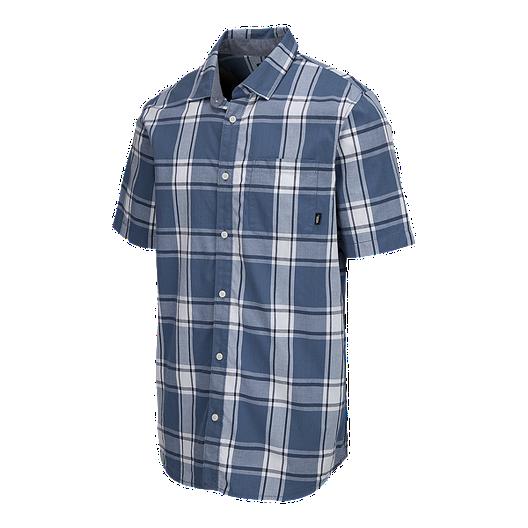 7556a1696b Vans Men's Mayfield Short Sleeve Woven Shirt - Copen Blue | Sport Chek