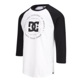 DC Men's Rebuilt II 3/4 Raglan Shirt - Snow White