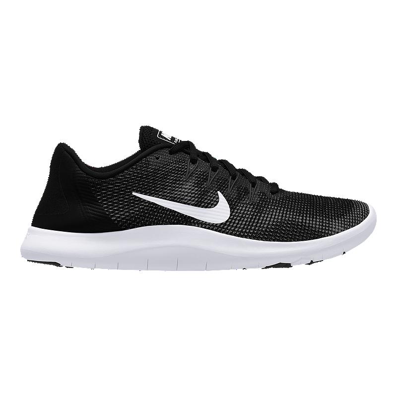 c63e30103ddd42 Nike Men s Flex RN 2018 Running Shoes - Black White