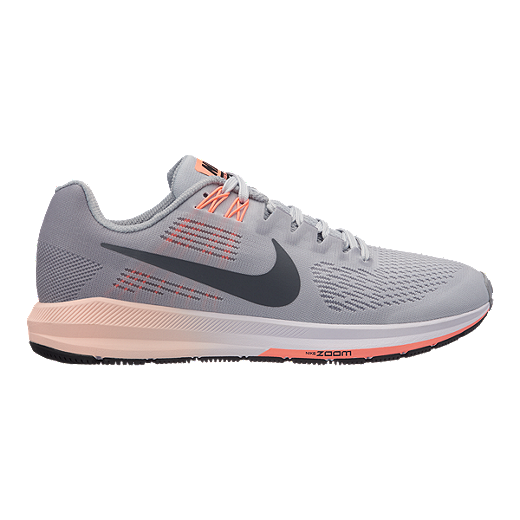 Nike Performance AIR ZOOM STRUCTURE 21 - Stabilty running shoes - wolf grey/dark grey/pure platinum 4lj0EvUqT