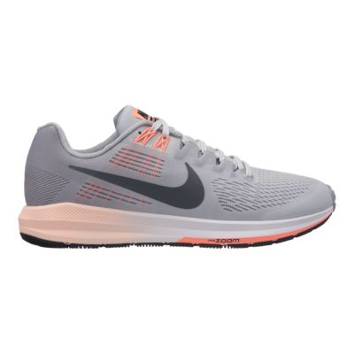 Nike Performance AIR ZOOM STRUCTURE 21 - Stabilty running shoes - wolf grey/dark grey/pure platinum