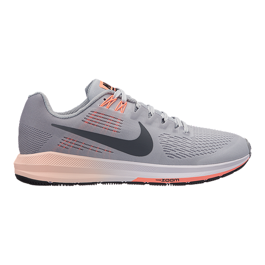 9997a530a3a28 Nike Women s Air Zoom Structure 21 Running Shoes - Grey Platinum ...
