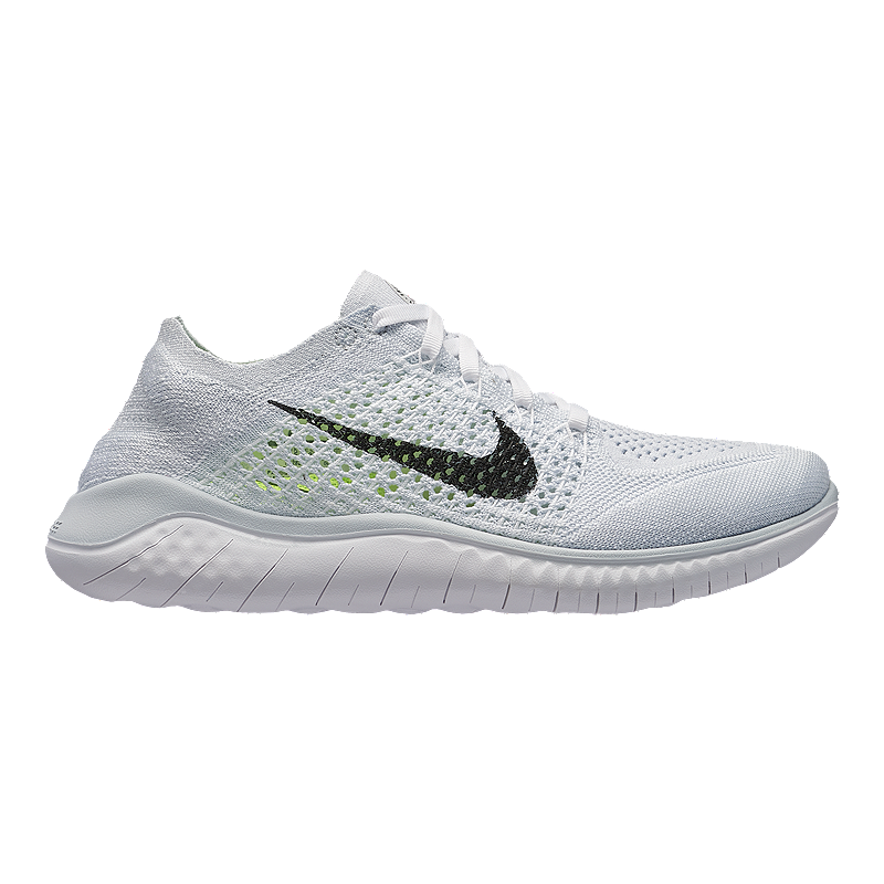 53a4e9b2cf8a Nike Women s Free RN Flyknit 2018 Running Shoes - White Black Platinum