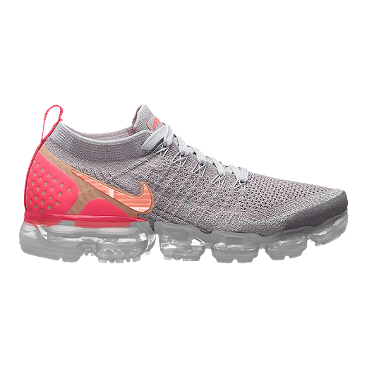 Nike Women's Air VaporMax Flyknit 2 Running Shoes GreyRed