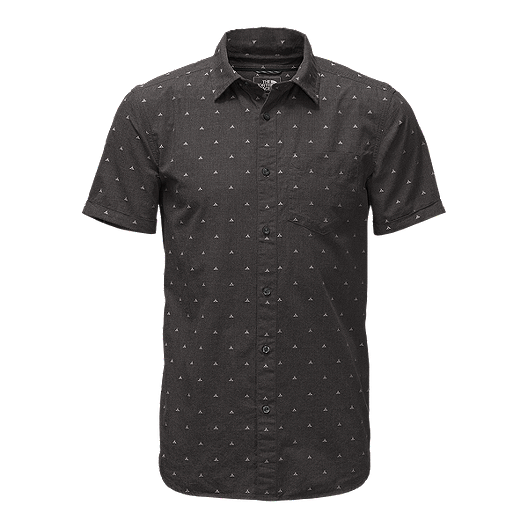 c178e3d3b The North Face Men's Bay Trail Jacquard Short Sleeve Shirt - Black