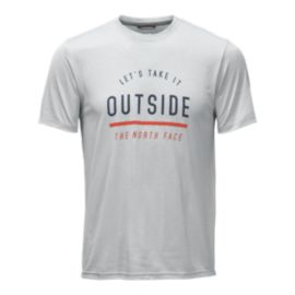The North Face Men's Reaxion Amp Graphic T Shirt  - Light Grey