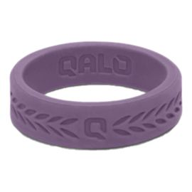 Qalo Women's Laurel Silicone Ring - Lilac