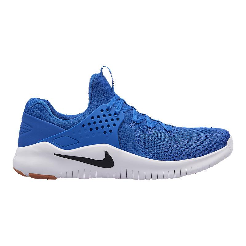 68d79e63395 Nike Men s Free Trainer V8 Training Shoes - Blue Black White