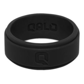 Qalo Men's Step Edge Silicone Ring - Black