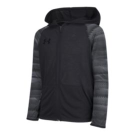 Under Armour Boys' Team Canada Performance Threadborne Knit Full Zip Hoodie - Black