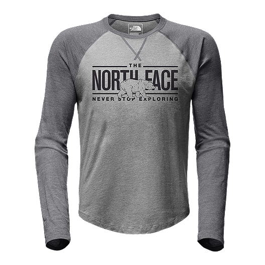 36281bc1122 The North Face Men s Double Bar Raglan Baseball T Shirt - Grey ...