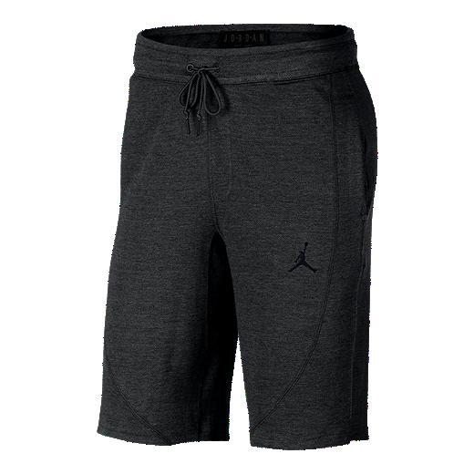 549994720ae Nike Men's Jordan Wings Lite Fleece Basketball Shorts - BLACK HEATHER
