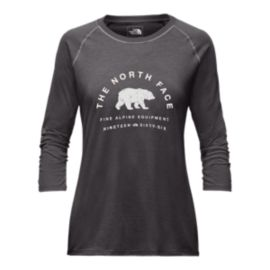 The North Face Women's 66 Classic 3/4 Baseball T Shirt - Dark Grey