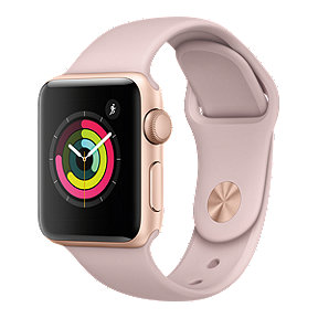 Apple Watch Series 3 GPS, 38mm Gold Aluminum Case with Pink Sport Band