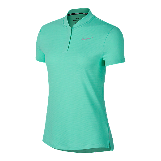 ef116d383237a Nike Golf Women's Aeroreact Short Sleeve Polo - GREEN GLOW