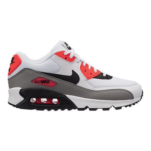 sneakers for cheap 0c055 0acbd Nike Women s Air Max 90 Shoes - White Black Solar Red   Sport Chek
