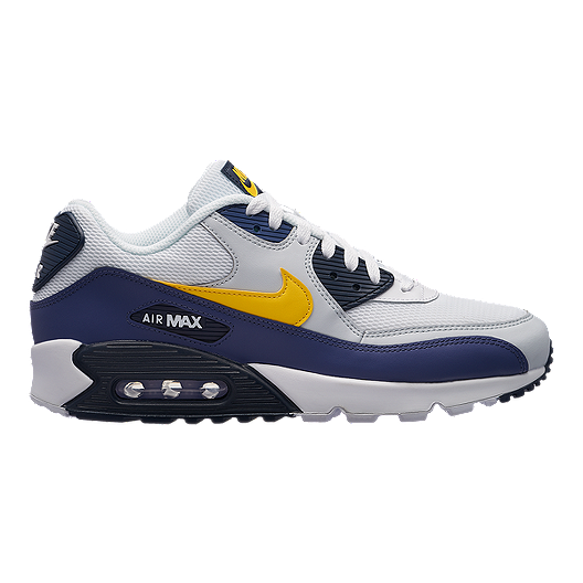 buy online 790be 0d6e7 Nike Men s Air Max 90 Essential Shoes - White Blue Yellow   Sport Chek