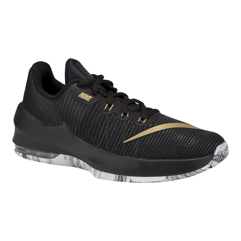 new concept d8b21 dd841 Nike Kids  Air Max Infuriate Grade School Basketball Shoes - Black Gold    Sport Chek