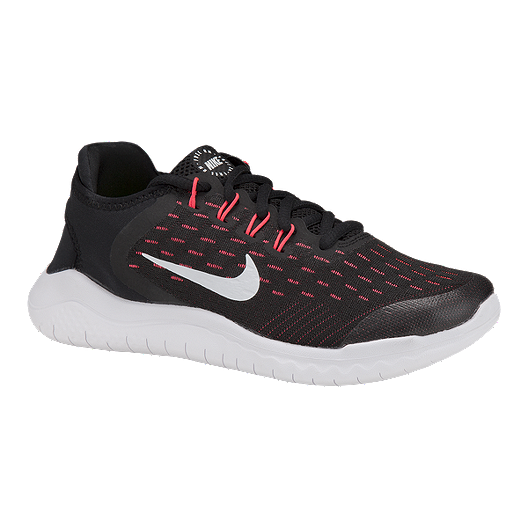 4f88fcef06ec3 Nike Girls  Free RN 2018 Grade School Running Shoes - Black Pink ...