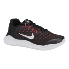 Nike Girls' Free RN 2018 Grade School Running Shoes - Black/Pink
