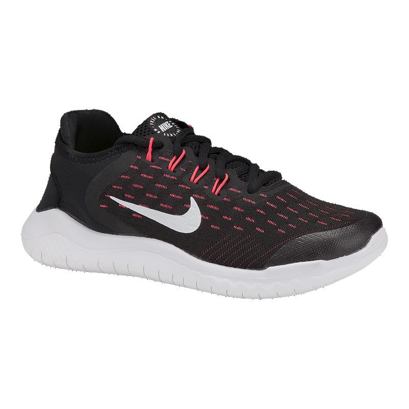 sports shoes 8fdae 26a84 Nike Girls' Free RN 2018 Grade School Running Shoes - Black/Pink