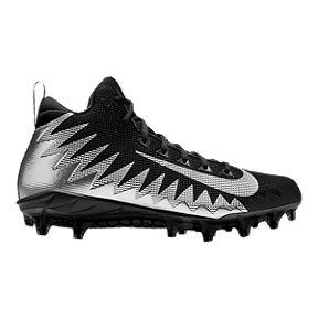 Nike Men s Alpha Menace Pro Mid Football Cleats - Black Silver a1a2a23e0b