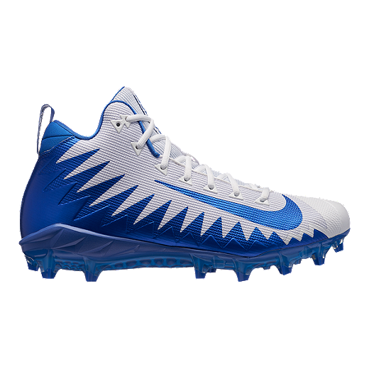 486f226a6a7 Nike Men s Alpha Menace Pro Mid Football Cleats - White Blue - WHITE GAME