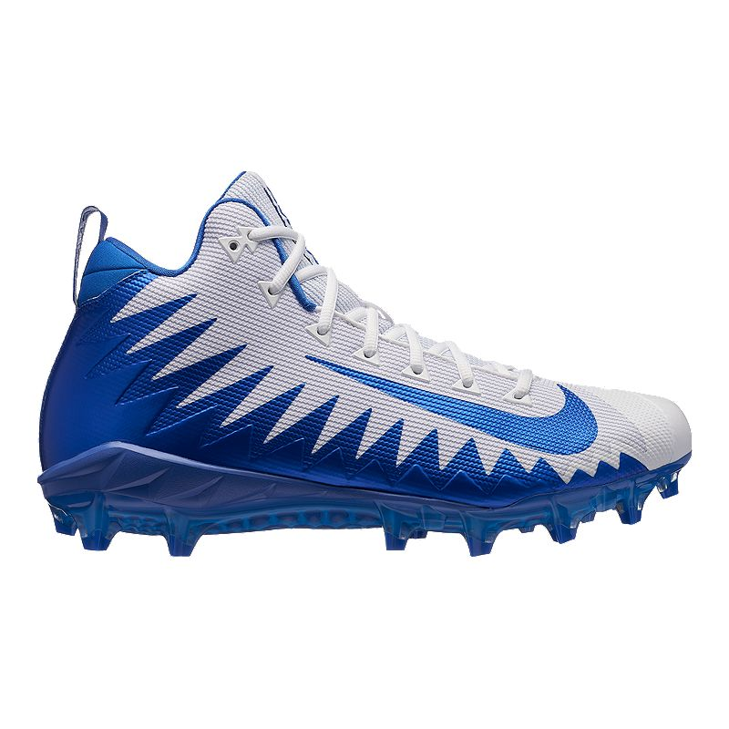 c6777970d5c Nike Men s Alpha Menace Pro Mid Football Cleats - White Blue (666003706952)  photo