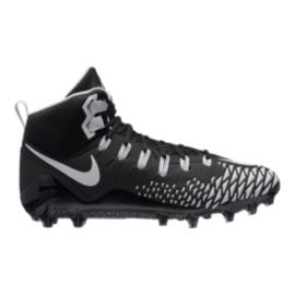 Nike Men's Force Savage Pro Football Cleat - Black/White