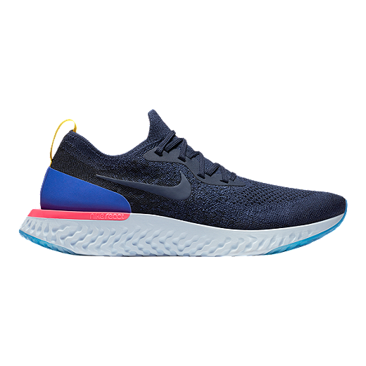 a4a81a98ba2512 ... australia nike mens epic react flyknit running shoes navy blue college  navy college 69fba 8ffee ...