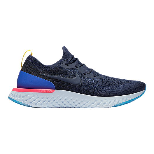 ad4fbecf2 Nike Men's Epic React Flyknit Running Shoes - Navy/Blue | Sport Chek
