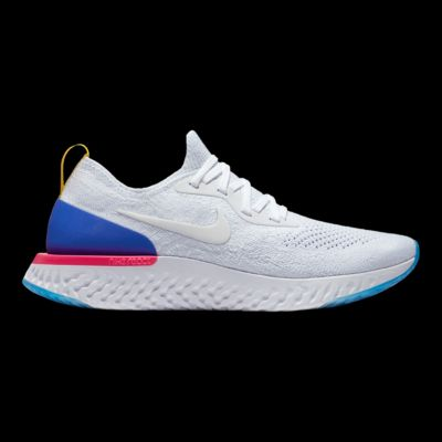 Nike WoHombres Epic Azul Reaccionar Flyknit Zapatillas Blanco  Azul Epic  Rosa b93606
