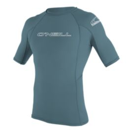 O'Neill Men's Basic Skins Short Sleeve Crew Rash Guard T Shirt - Blue