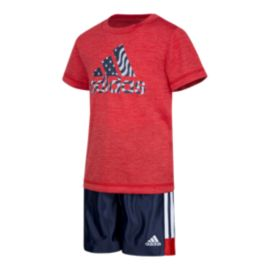 adidas Baby Boys' United In Sport Short Top & Shorts Set