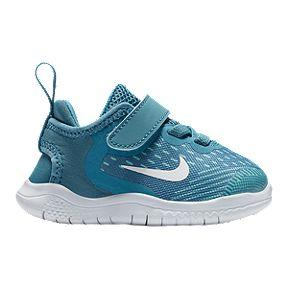 bd1c7436b29b Nike Toddler Girls  Free RN 2018 Shoes - Aqua White