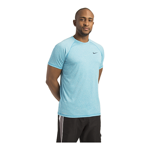 b4a80e88 Nike Men's Solid Heather UPF Hydroguard T Shirt - Light Blue Fury | Sport  Chek