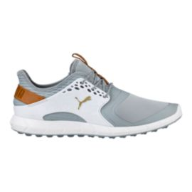 PUMA Golf Men's IGNITE PWRSPORT Golf Shoes - White/Grey