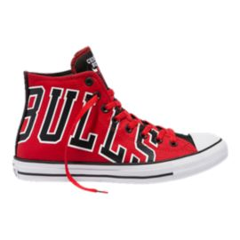 Converse Men's Chuck SE NBA Chicago Bulls Franchise High Top - Red