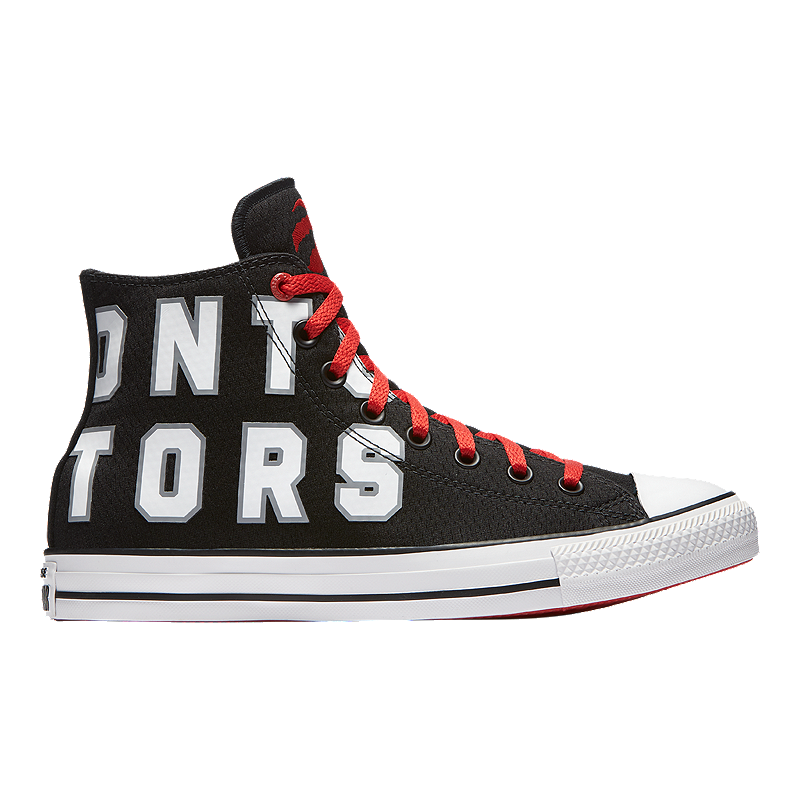 48d92685de8 Converse Men s Chuck SE NBA Toronto Raptors Franchise High Top - Red ...