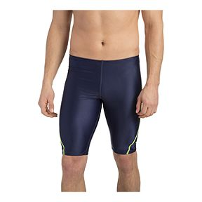 2640736a82249 Speedo Men s Relaunch Jammer Swim Shorts - Navy Grey