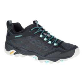 Merrell Women's Moab FST Hiking Shoes - Black/Teal