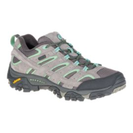 Merrell Women's Moab 2 Waterproof Hiking Shoes - Drizzle/Mint
