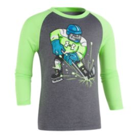 Under Armour Boys' 4-7 Hockey Player Long Sleeve Shirt